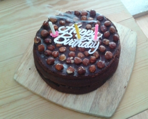 Chocolate and Nutella Birthday Cake candles