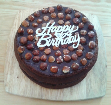 GloucestershireGlutton recipe - Chocolate and Nutella Birthday Cake