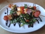 The Apple Tree - halloumi and vegetable skewers