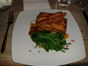 The Suffolk Kitchen - pork belly with salted caramel sauce