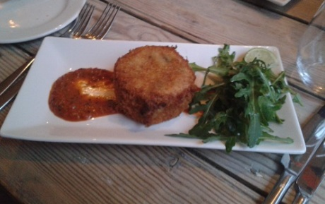 The Suffolk Kitchen - smoked haddock and prawn fishcake