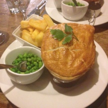 The Farmer's Boy Inn - 2 in 1 pie, steak and Guiness and chicken and mushroom wit puff pastry